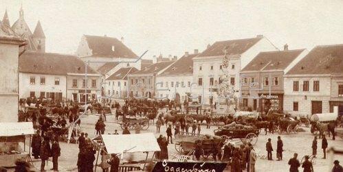 Stadtansicht von Eggenburg. Niederösterreich. Österreich. Photographie. Um 1890.