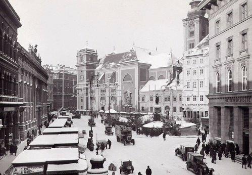 Die Freyung in Wien. Wien. Österreich. Photographie. Um 1910