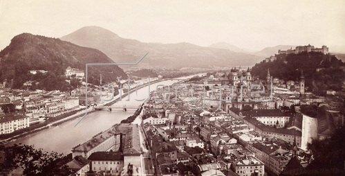 Ansicht von Salzburg. Photographie. um 1910