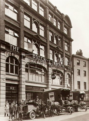 Bosch Niederlassung in London. Photographie. 1910.