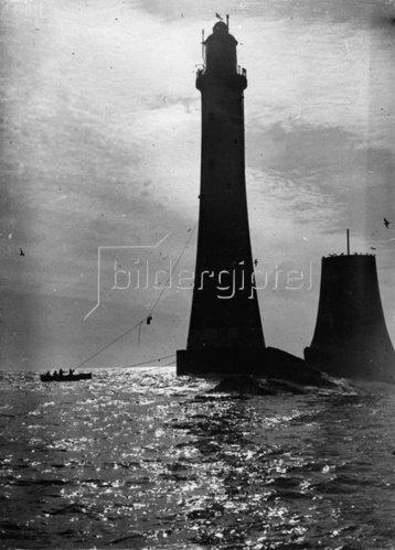 Der Eddystone Leuchtturm, südlich von Plymouth. England. Photographie. 9.3.1933
