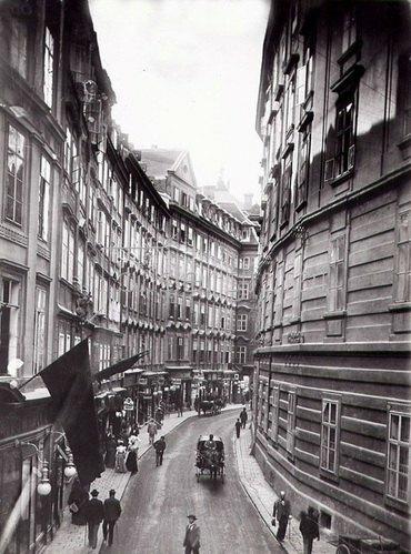 Bognergasse in Wien, Österreich. Photographie. Um 1890.