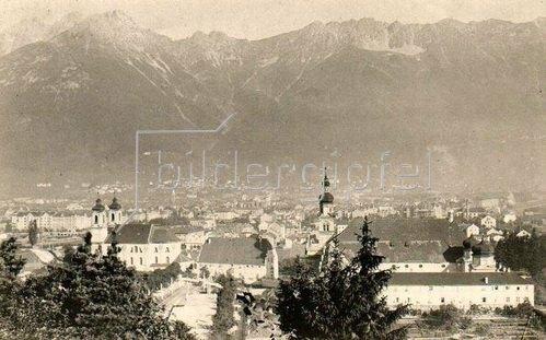 Panoramaansicht von Innsbruck, Tirol, Österreich. Photogaphie. Um 1890.