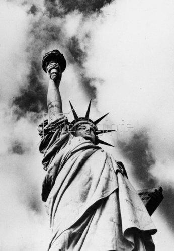 Die Freiheitsstatue in New York. Amerika. Photographie. um 1935.
