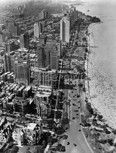 Blick auf die Goldküste. Chicago. Photographie. Um 1935.