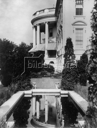 Prunkvolle Villa in Washington D. C. Photographie. Amerika. Um 1935.