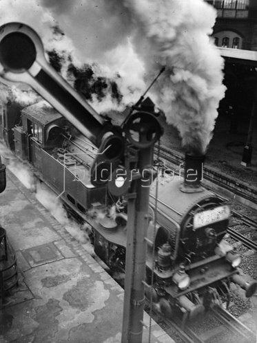 Dampflokomotive. Photographie. Um 1935.