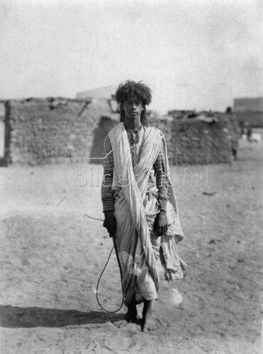 Ein junger Beduine aus Palästina, Photographie. Um 1935.