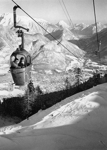 Seilbahn in Bad Ischl. Fotografie um 1935