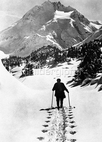Winterlandschaft St. Moritz. Schweiz um 1930
