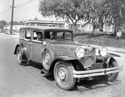 Präsentation des neuen Wagens Mystery. Photographie. Pasadena, USA. Um 1930.