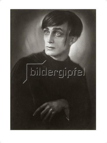 "Franz Xaver Setzer: Conrad Veidt als Cesare in dem Film ""Das Cabinet des Dr. Caligari"" 1921"