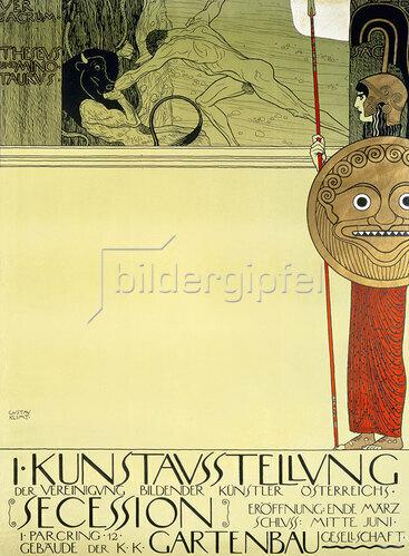 Gustav Klimt: Plakat für die 1. Ausstellung der Secession. 1898.