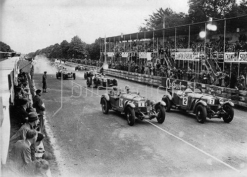 Start zum Grand Prix von Irland. 9.6.1931. Phönix-Park/Dublin.