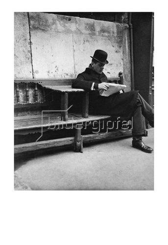 Emil Mayer: Fiaker beim Zeitunglesen, Wien, um 1910