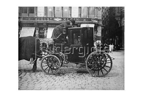 Emil Mayer: Fiaker, Wien, um 1910