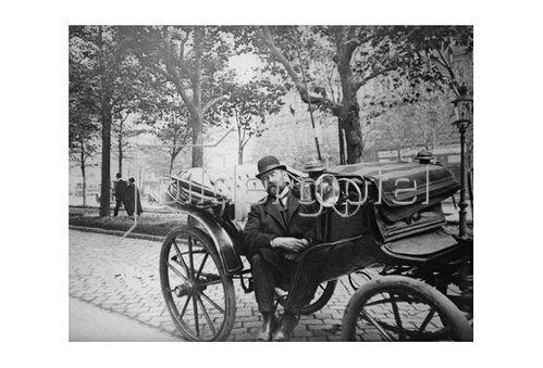 Emil Mayer: Fiakerpause am Fiakerstand an der Ringstraße, Wien, um 1910