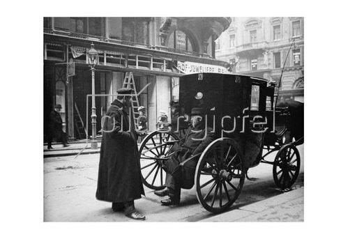 Emil Mayer: Zwiegspräch der Fiaker in Wien, um 1910