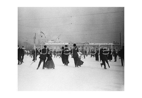 Emil Mayer: Im Wiener Eislaufverein,  Am Heumarkt in Wien, um 1910