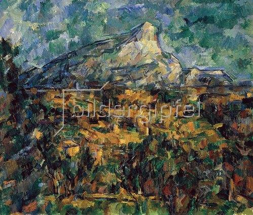 Paul Cézanne: Landschaft bei Aix mit dem Montagne Sainte-Victoire Um 1906.