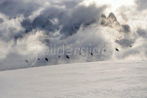 Michael Reusse: Alpen, Südtirol, Seiseralm, Skilift