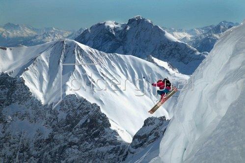 Michael Reusse: Freeride, Zugspitze, Bayern