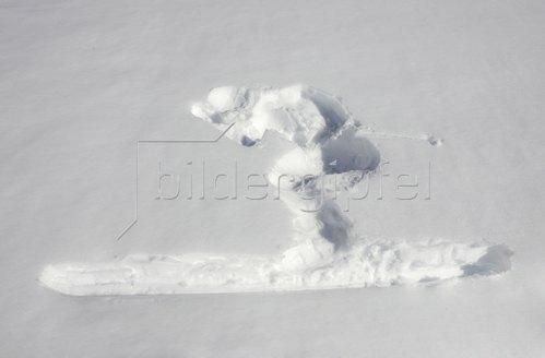 Michael Reusse: Seiseralm. Skifahrer, Relief