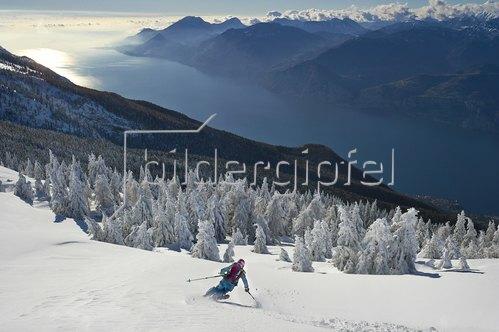 Michael Reusse: Gardasee, Skifahren, Tiefschnee, Panorama
