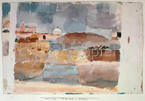 Paul Klee: Vor den Toren von Kairouan. 1914