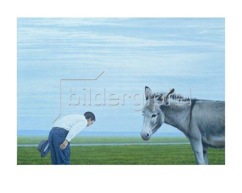 Quint Buchholz: Mann und Esel