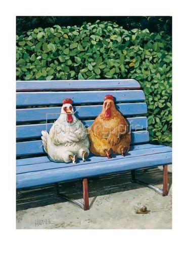 Rudi Hurzlmeier: Hühner