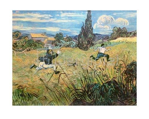 Rudi Hurzlmeier: Vincent van Gogh - Selbstportrait mit Hosendieb