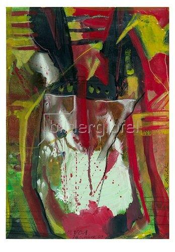 Reinhard Michl: Masquerade, Abstrakte Malerei
