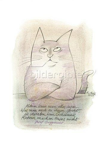 Reinhard Michl: Katzen kann man alles sagen