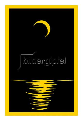 Reinhard Michl: Mond über dem Meer
