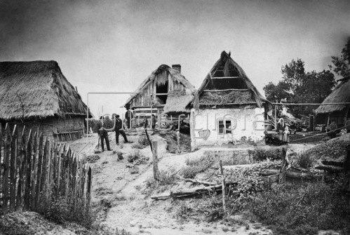 Gebrüder Haeckel: Bauernhaeuser der polnischen Bevoelkerung in Gohle, Zabikowo,