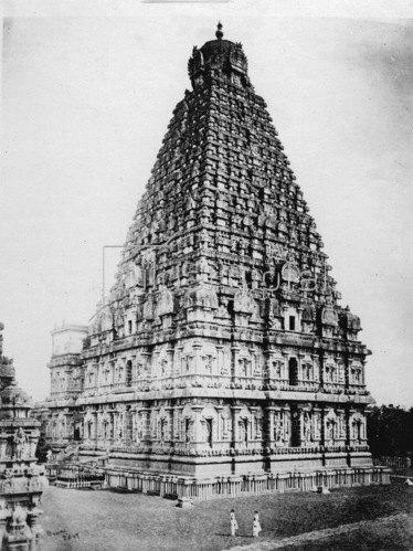 Gebrüder Haeckel: Indien, Tamil Nadu, Thanjavur: Brihadisvara Tempel, erbaut 1003-1010