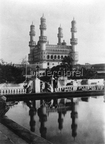 Gebrüder Haeckel: Hyderabad: Charminar Moschee, um 1910