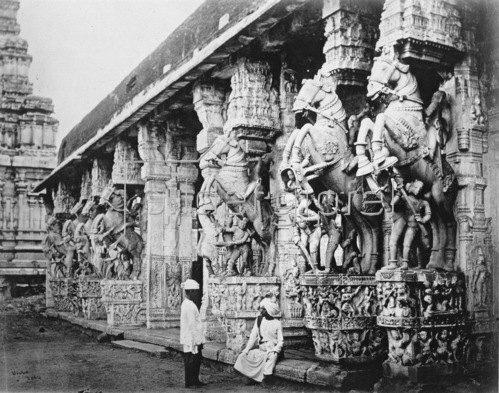 Gebrüder Haeckel: Sri Ranganathaswamy Tempel, der groesste Tempel Suedindiens. Um 1910