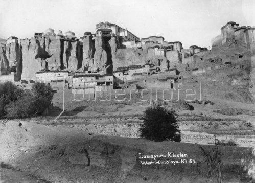 Gebrüder Haeckel: Ladakh: buddhistisches Lamayuru Kloster - um 1910
