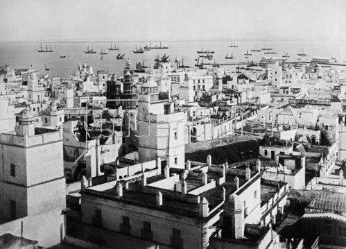 Gebrüder Haeckel: Andalusien: Ansicht von Cadiz, um 1910