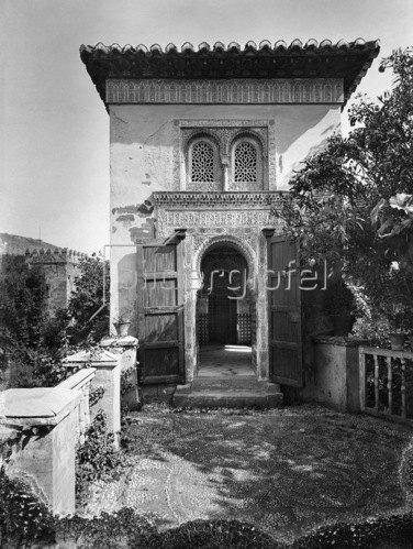 Gebrüder Haeckel: Spanien, Andalusien, Granada, Alhambra: Moschee, um 1910