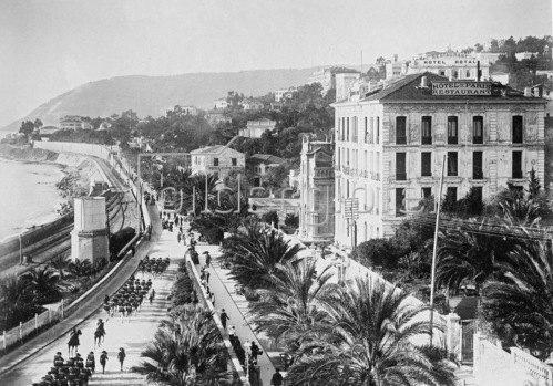 Gebrüder Haeckel: Ligurien, Riviera di Ponente, Promenade von San Remo, um 1910