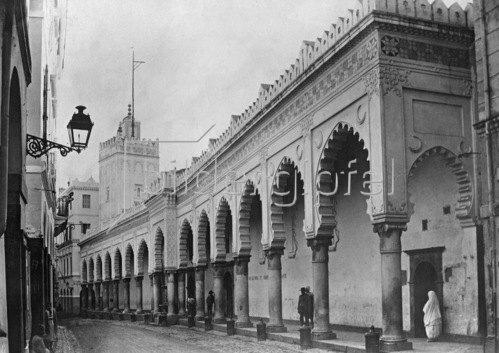 Gebrüder Haeckel: Grosse Moschee, Rue de la Marine in Algier, um 1905