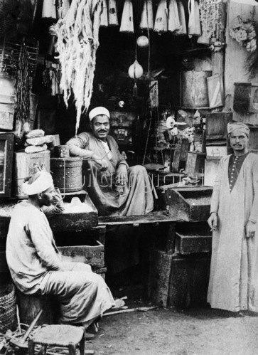 Gebrüder Haeckel: Afrika Aegypten Kairo: Kraemerladen in Kairo, um 1910