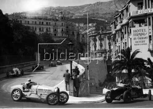 Grand Prix de Monaco, links Rigatti, rechts Alfa Romeo, 1933