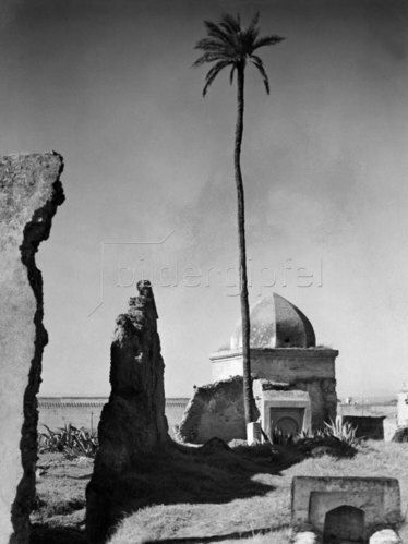 Marokko Fes Fes: Das Grabmahl eines Marabout, 1932