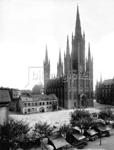Wiesbaden: die Marktkirche - 1900