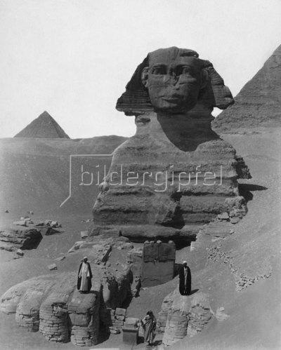 Die Sphinx von Gizeh, 1900
