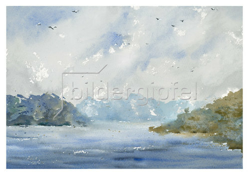 Werner Maier: Fjord in Norwegen